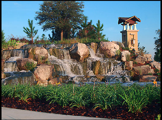 Waterfall design and construction for Landscaping rocks ocala florida